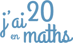 Logo de J'ai 20 en maths