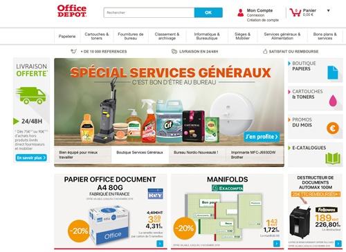 Site e-commerce d'Office Dépot